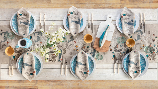 Coral & Tusk Coastal Cottage Table Setting