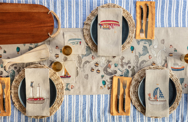 Coral & Tusk Nautical Table Setting