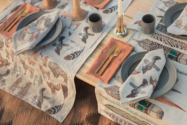 Coral & Tusk Table Runners and Dinner Napkins