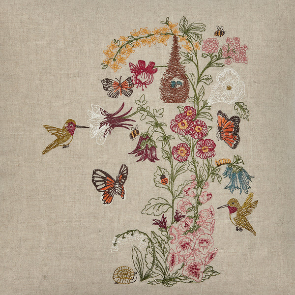 Coral & Tusk Hummingbird Vine Embroidered Design