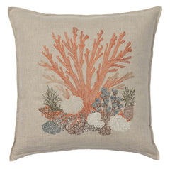 "Large Coral Pillow 20"" x 20"""