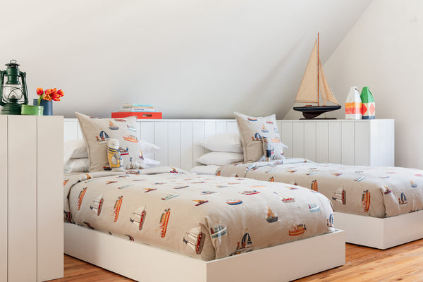 Coral & Tusk All Over Boats Pattern Bedroom