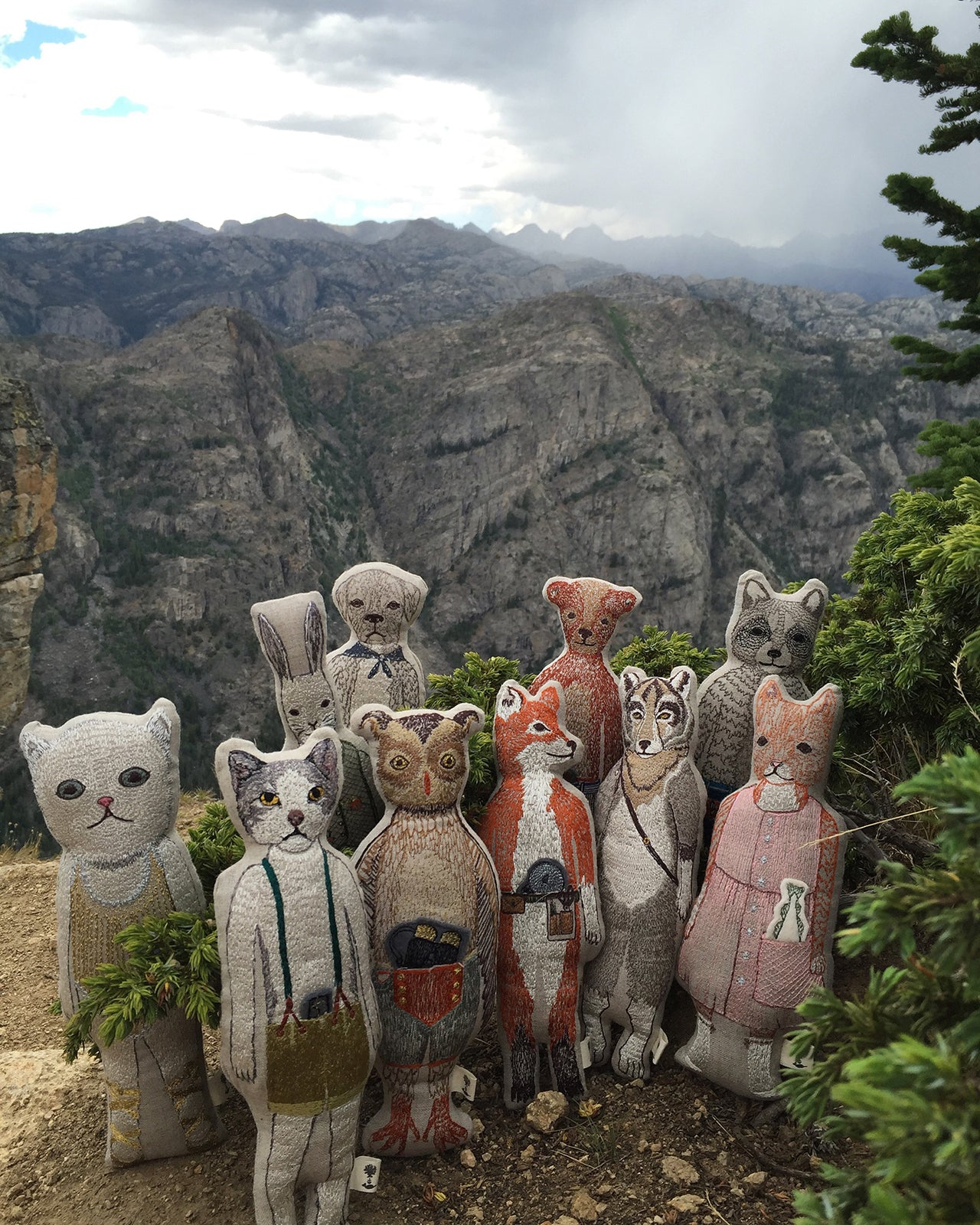 Coral & Tusk in Wyoming, Pocket Dolls at Sacred Rim