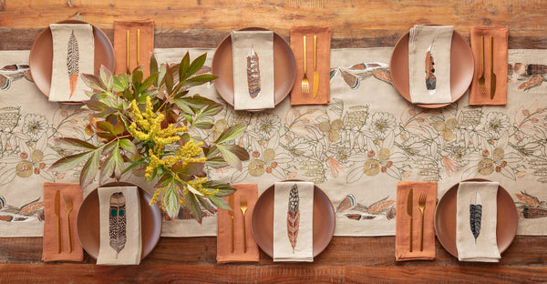 Coral & Tusk Abundance and Feather table linens