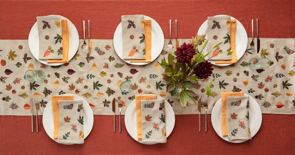 Coral & Tusk Fall Garden Table Linens