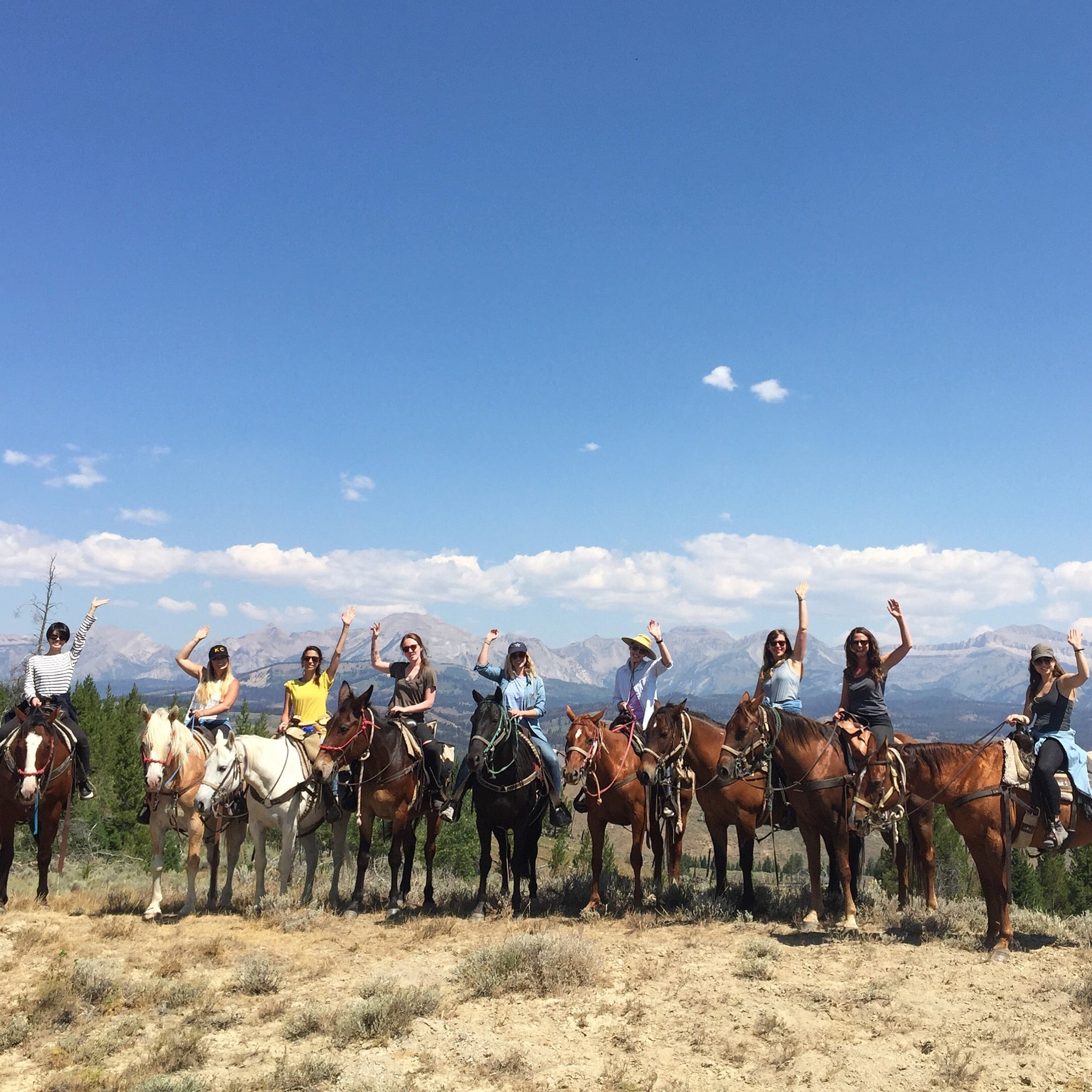 Coral & Tusk Team Sleeping Indian Outfitters Horseback riding, Bondurant Wyoming