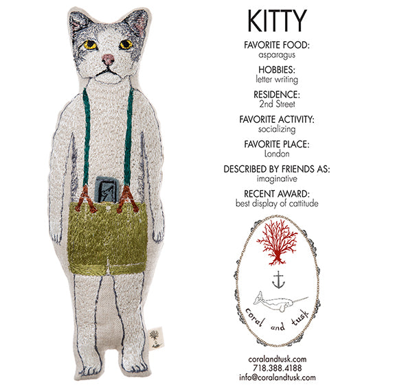 Coral and Tusk Kitty Pocket Doll
