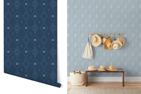 Evil Eye Wallpaper Coral & Tusk for Hygge & West