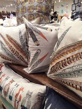 Kihl-Linscomb Coral & Tusk Feather Pillows