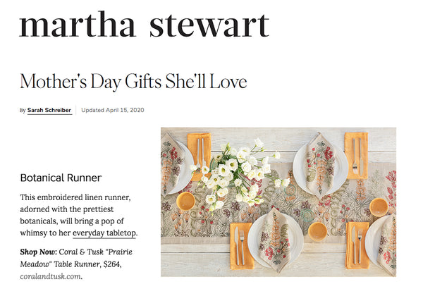 Coral & Tusk Table Runner Mother's Day Gifts She'll Love