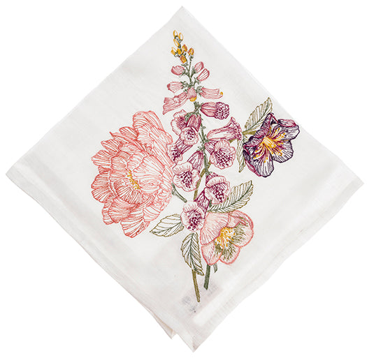 Coral and Tusk Foxglove Dinner Napkin