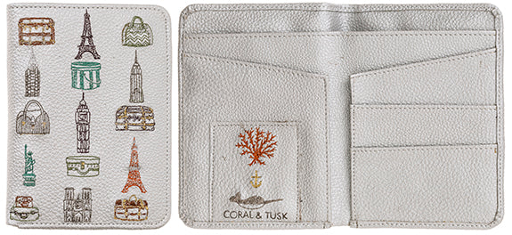 Coral and Tusk Passport Wallet