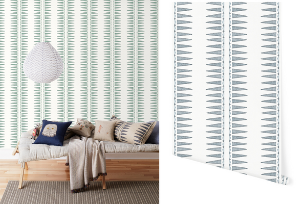 Quill Wallpaper Coral & Tusk for Hygge & West
