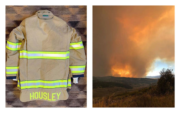 Stephanie's Fire Fighter Jacket and the Wyoming Wildfire