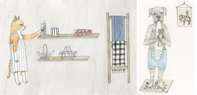 Illustration by Stephanie Housley for Fog Linen x Coral & Tusk