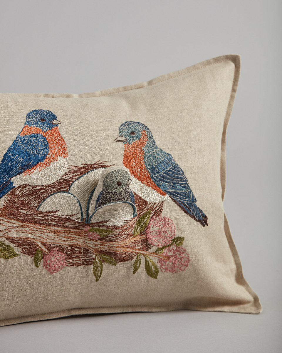 Bluebird Nest Pocket Pillow