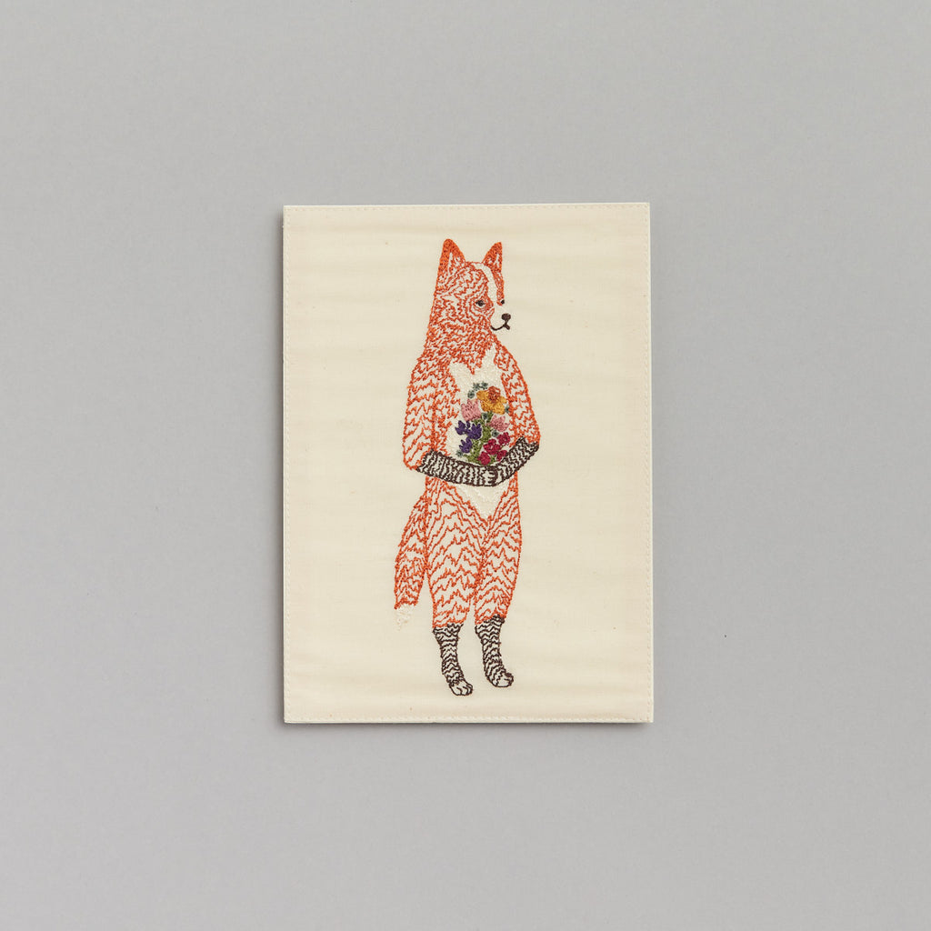 Fox with Flowers Card