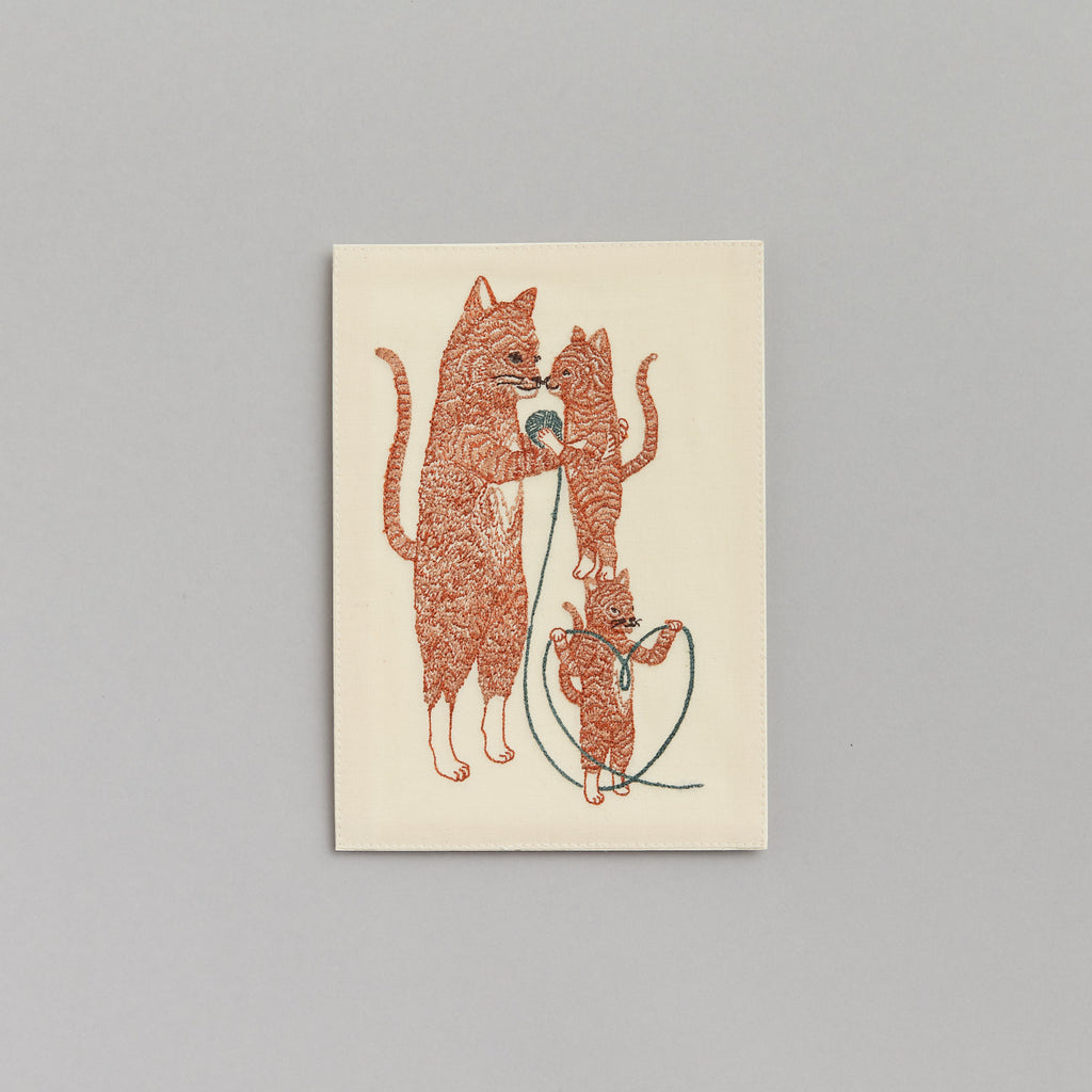 Mama Cat and Kittens Card