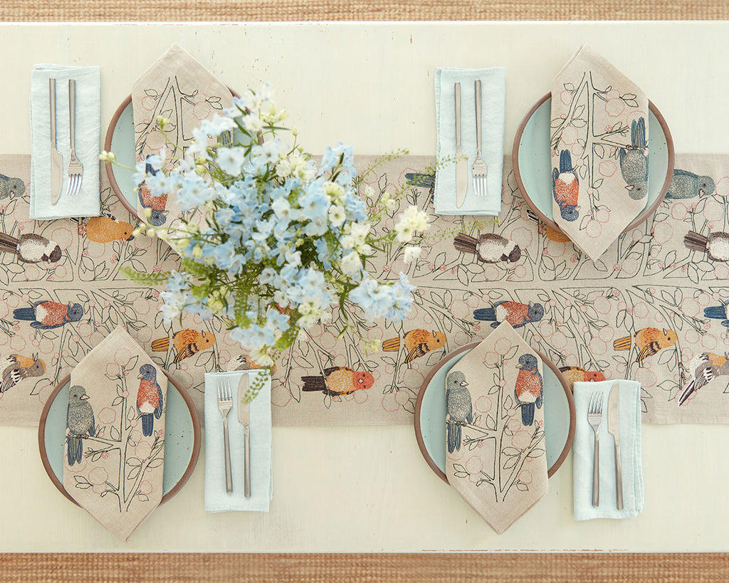 Songbirds Tree Table Runner