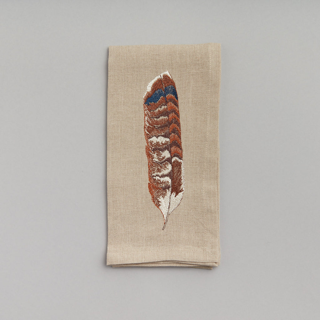 Red Tail Hawk Feather Dinner Napkin
