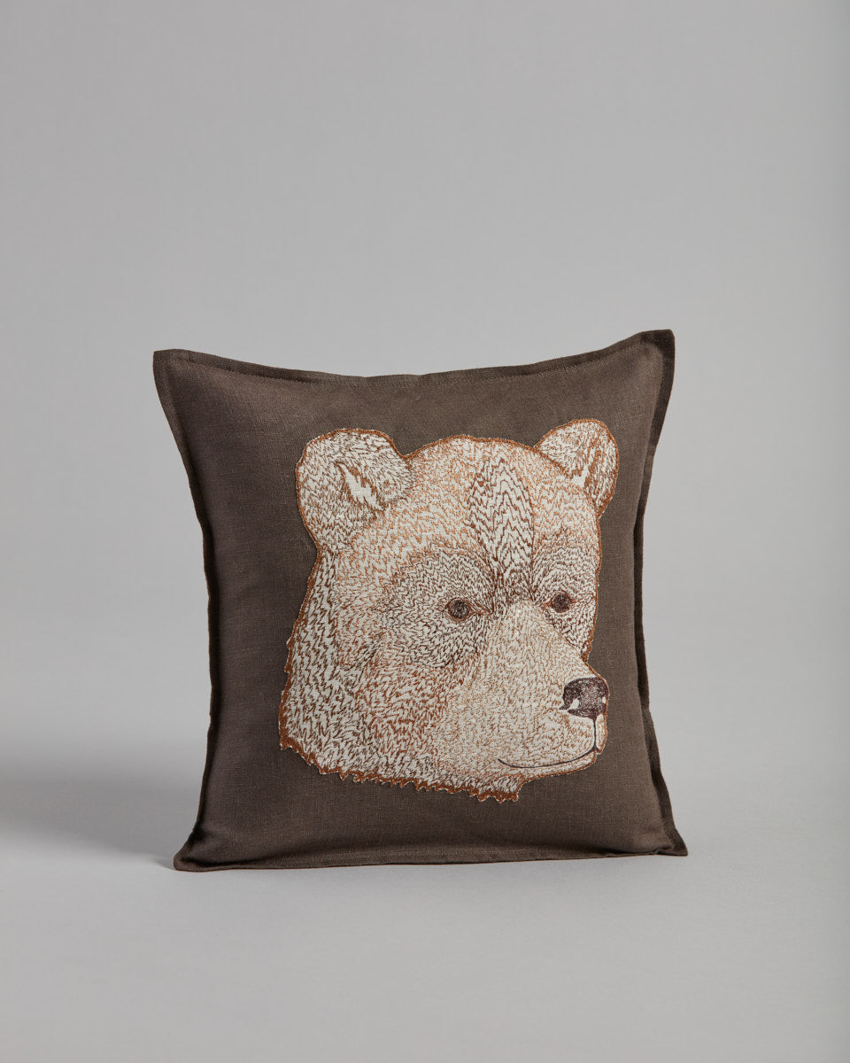 Bear Appliqué Pillow