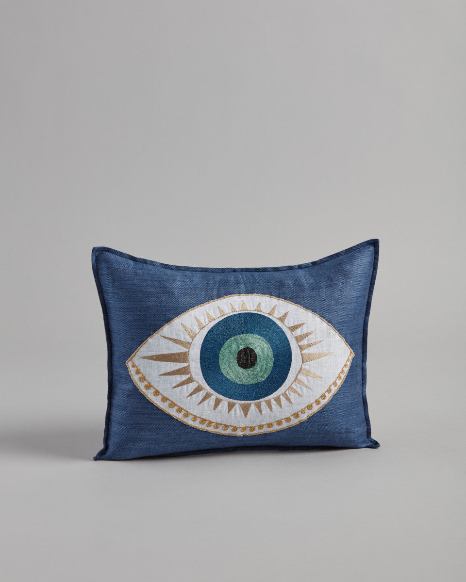 Evil Eye Appliqué Pillow