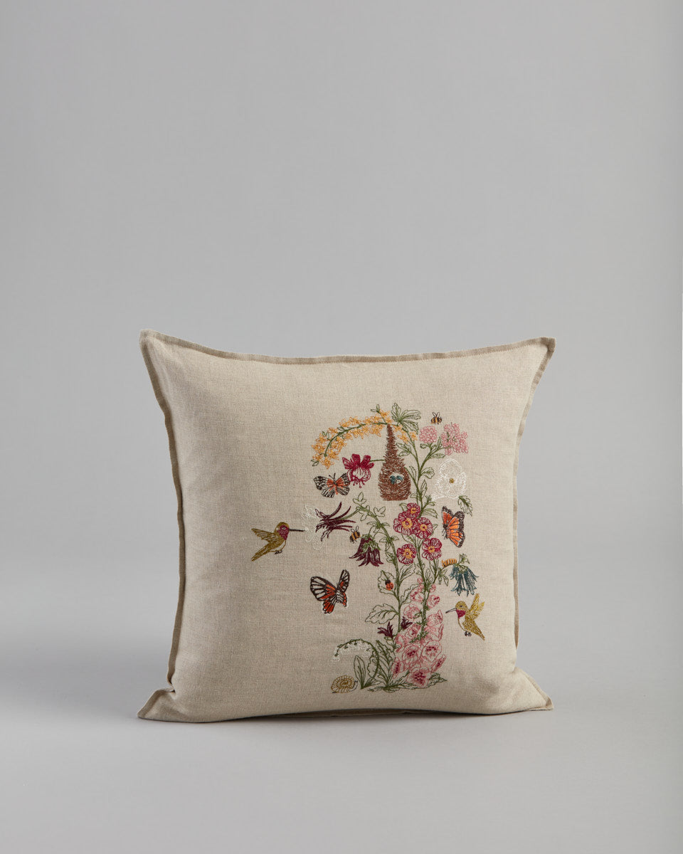 Hummingbird Vine Pillow