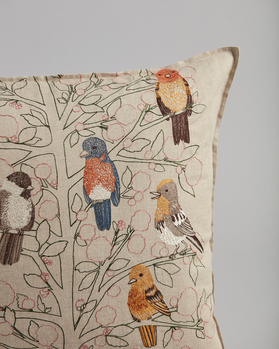 Songbirds Tree Pillow