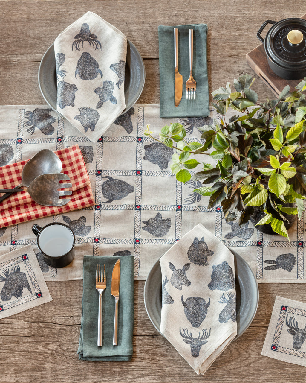 Silhouette Portraits Table Runner