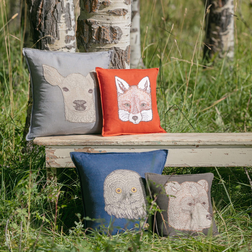Fox Appliqué Pillow