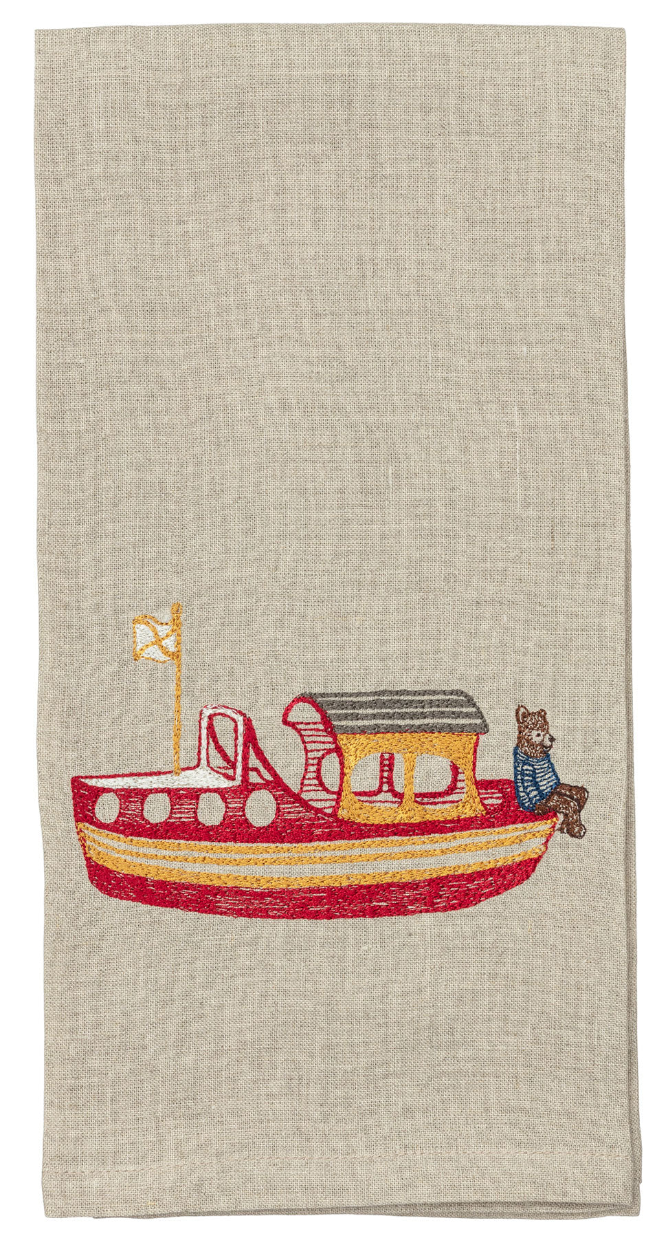 Boating Bear Tea Towel