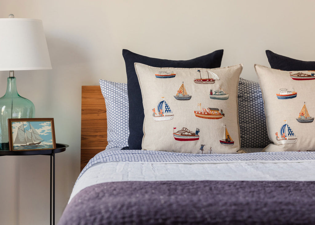 Boats Pattern Pillow