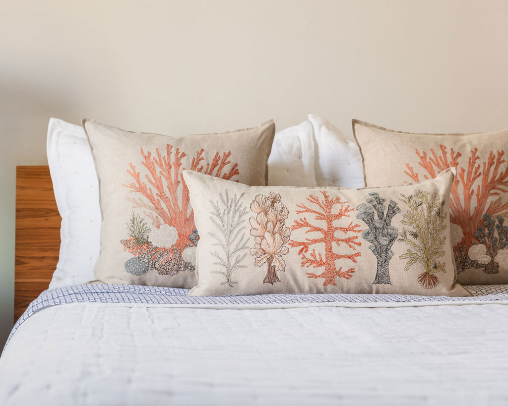 Large Coral Pillow