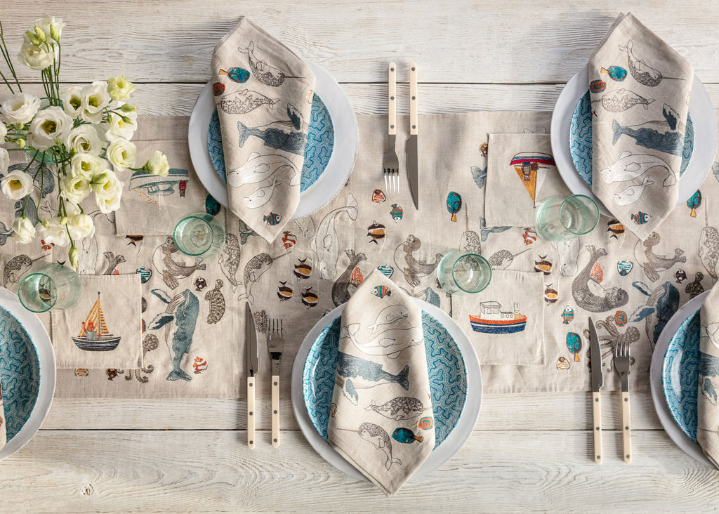 Boats Cocktail Napkin Set