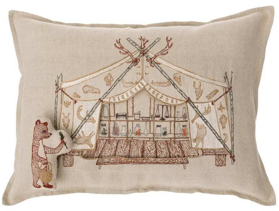 Bear Apothecary Tent Pocket Pillow