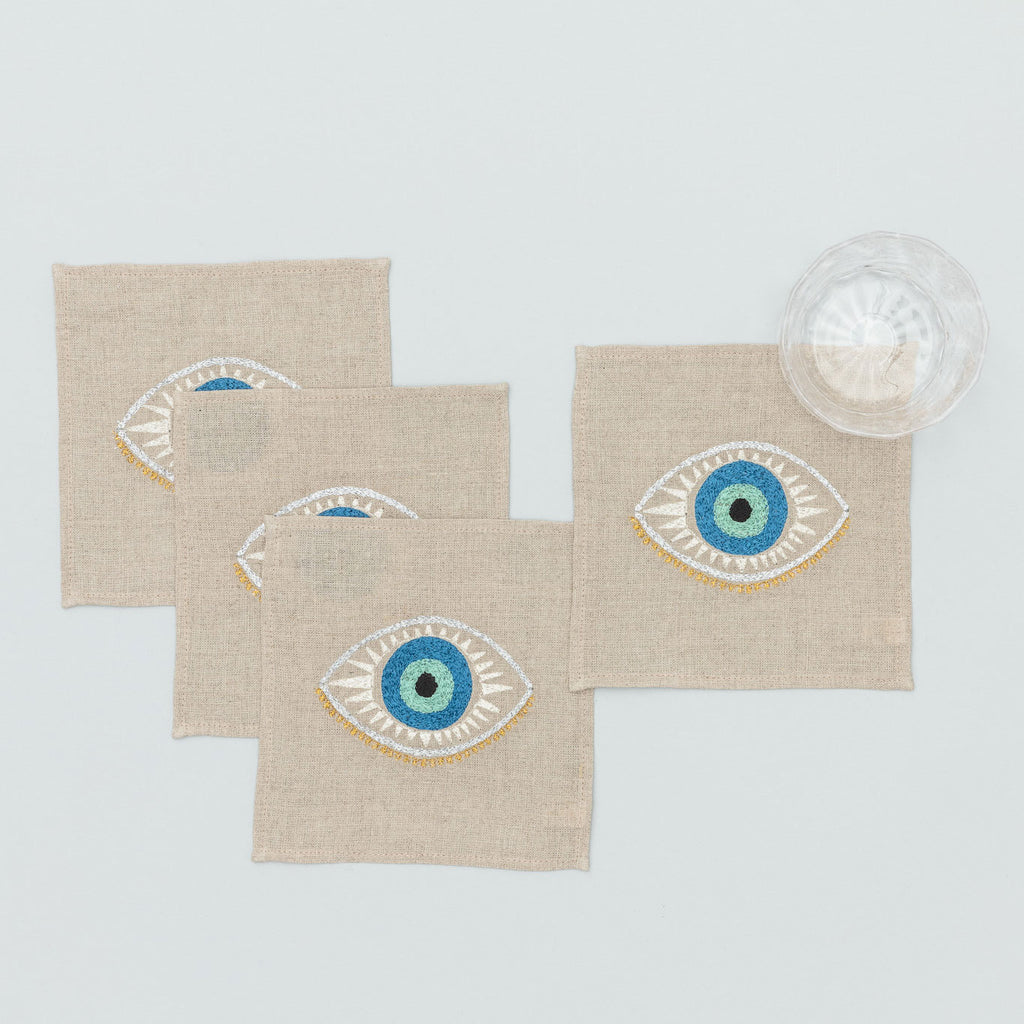 Evil Eye Cocktail Napkin Set