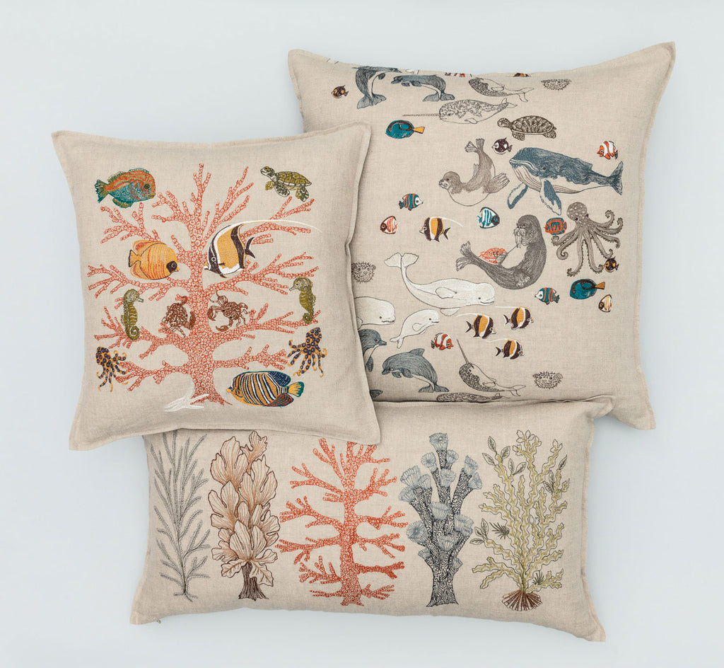 Picture of: Coral Reef Pillow Coral Tusk