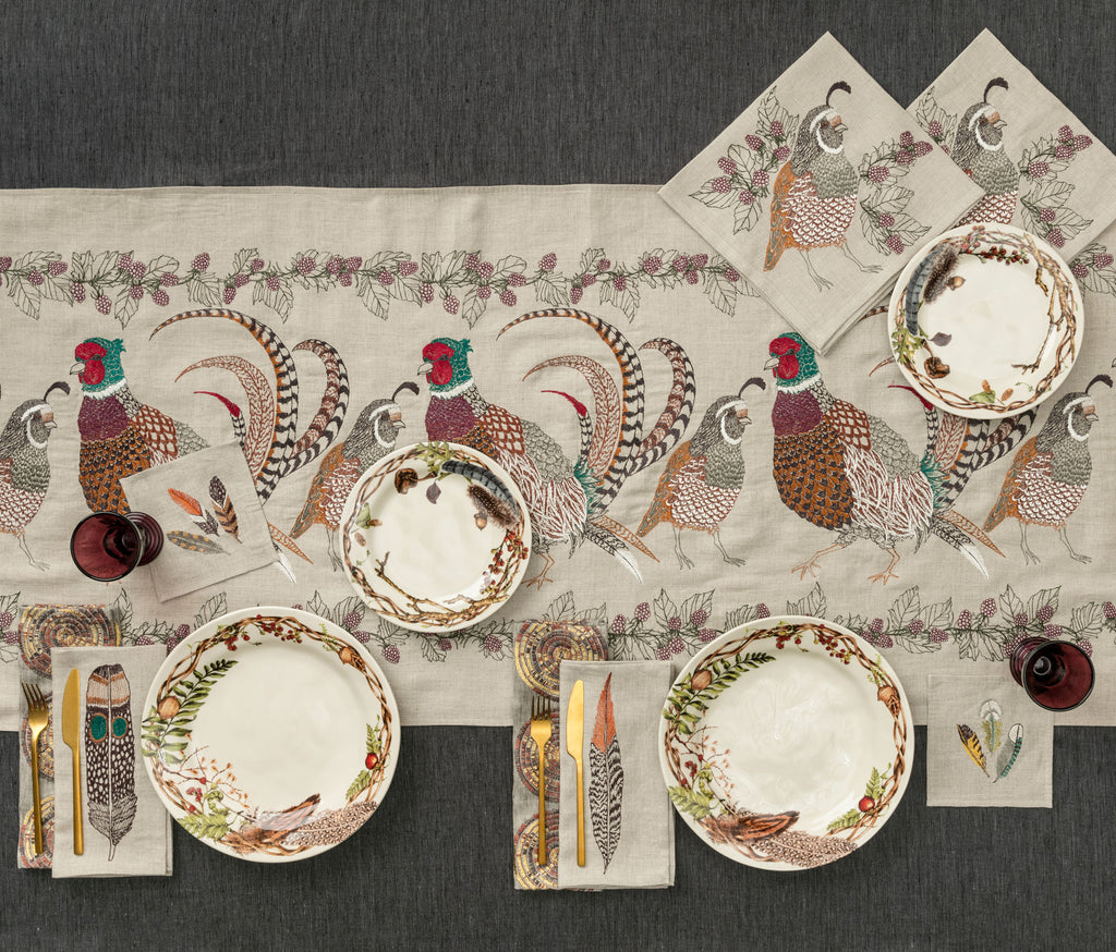 Pheasant and Quail Table Runner