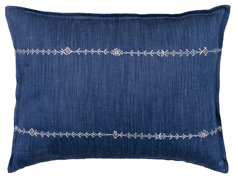 Stitch Stripe Indigo Pillow