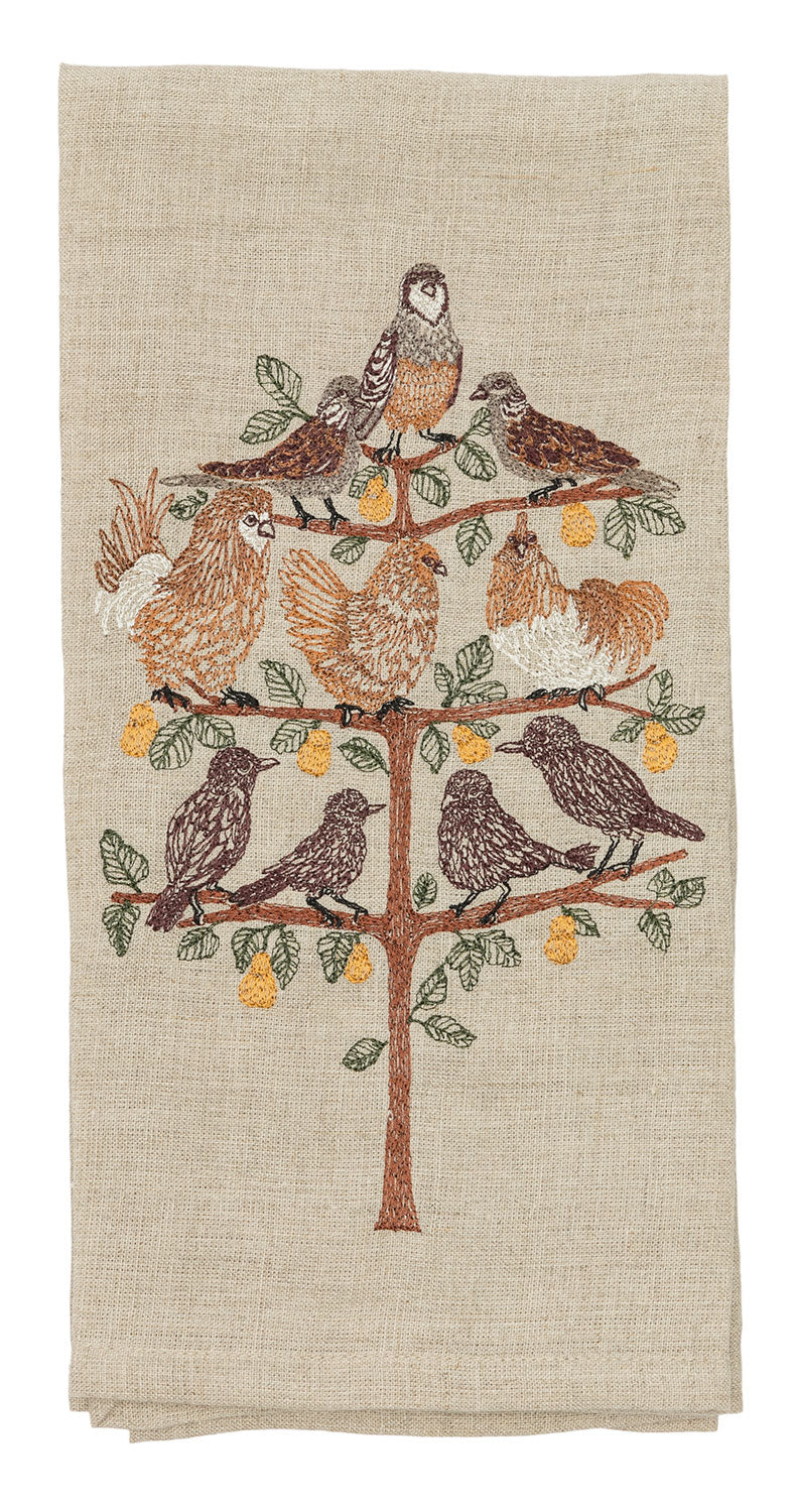 Partridge in a Pear Tree Tea Towel
