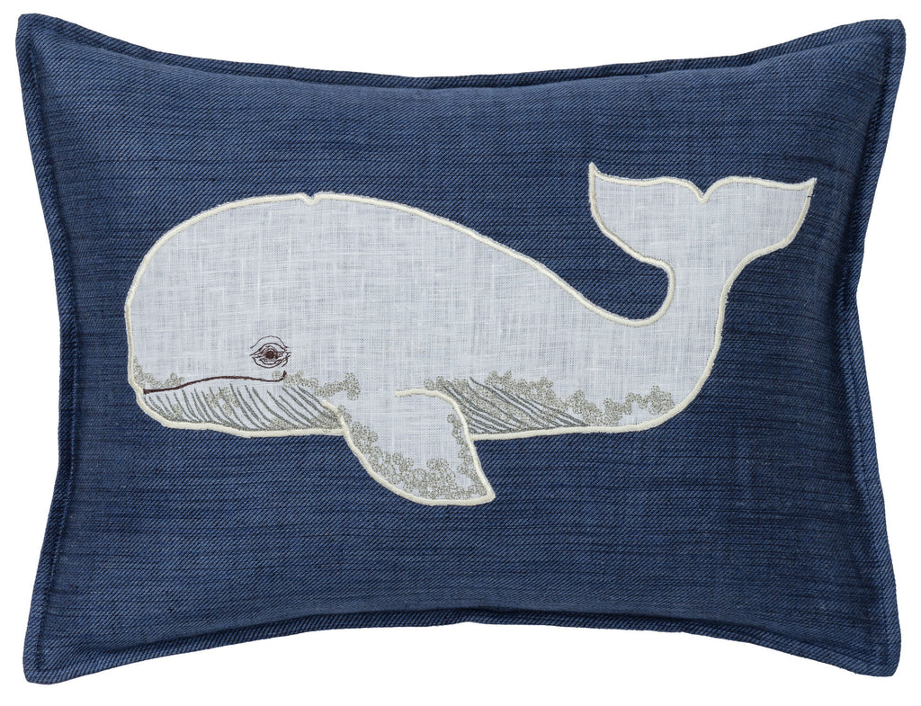 Whale Appliqué Pillow