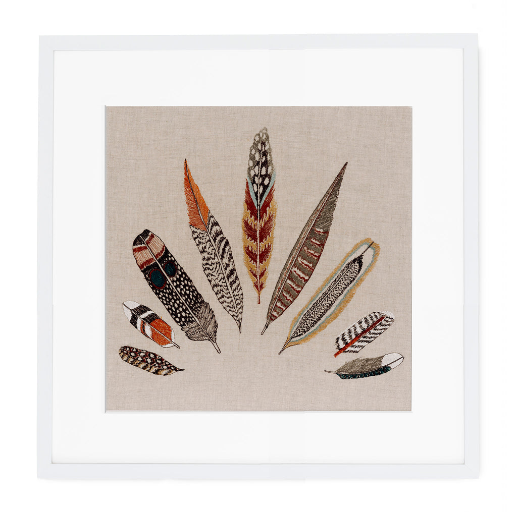 Plumes Framed Art