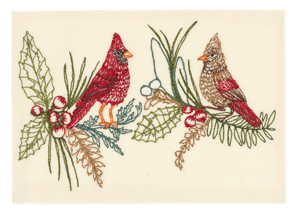 Christmas Cardinals Card