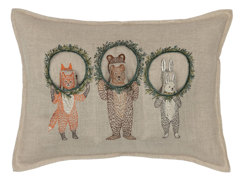 Christmas Wreath Trio Pocket Pillow