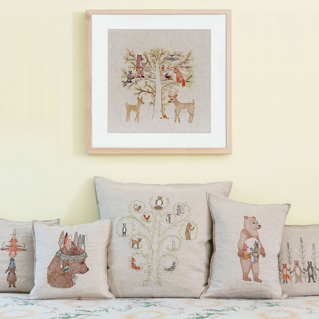 Woodland Family Framed Art