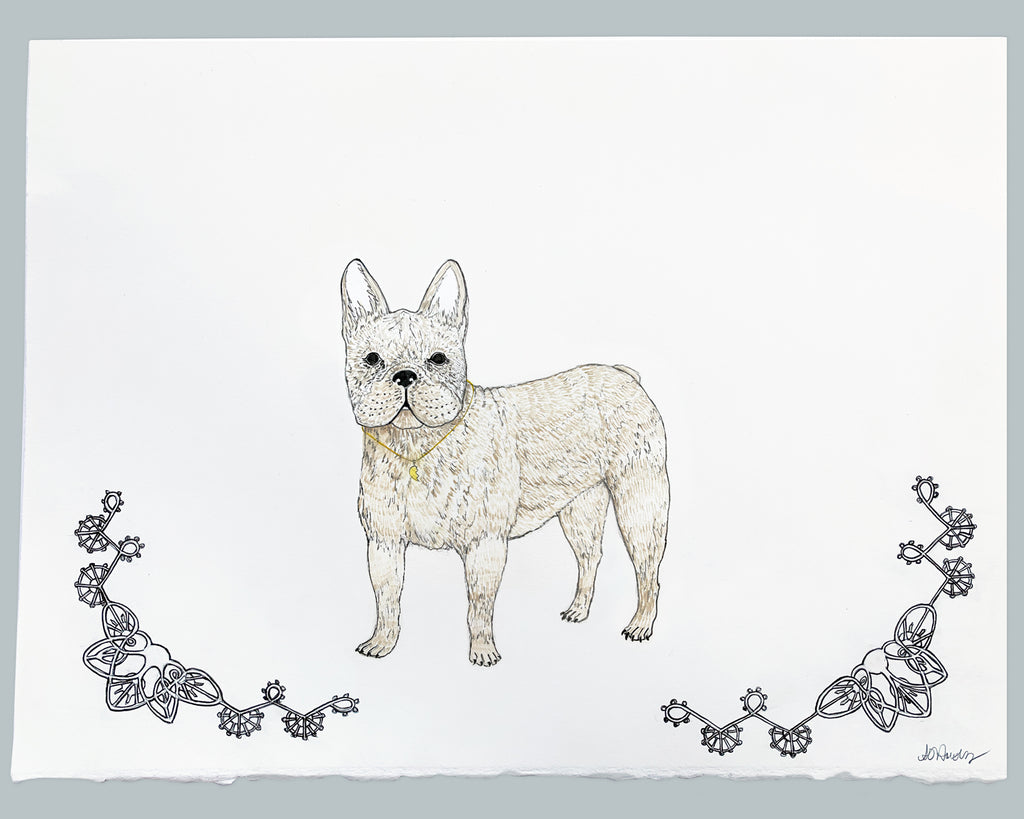 French Bulldog Original Watercolor Painting
