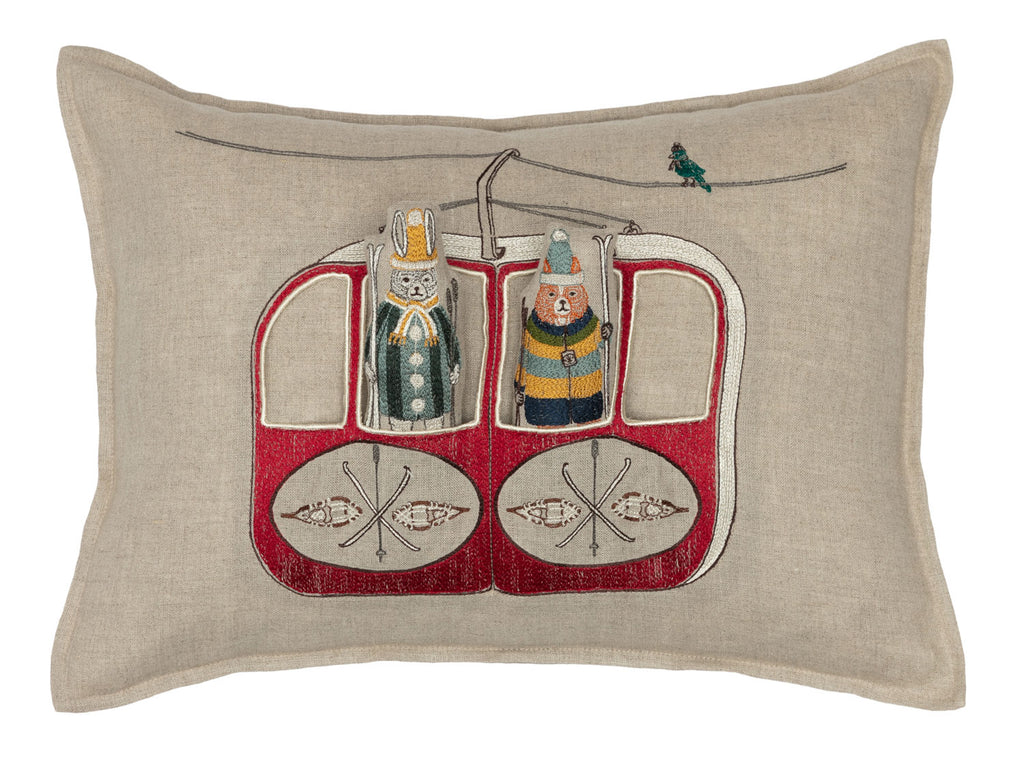 Gondola Ski Lift Pocket Pillow