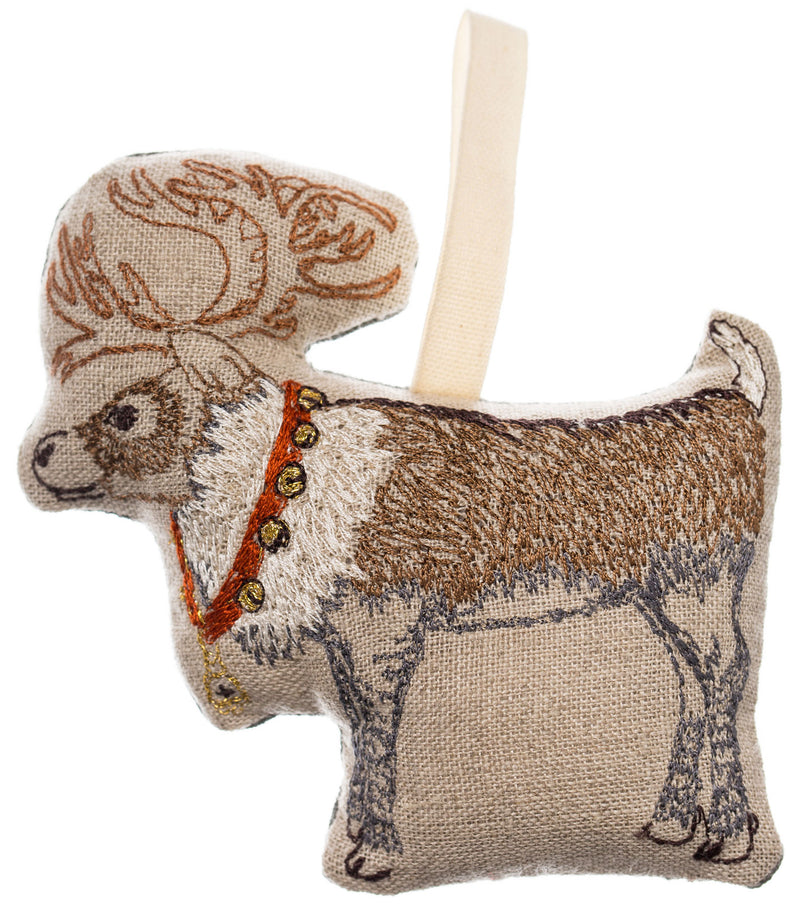 Reindeer with Bells Ornament