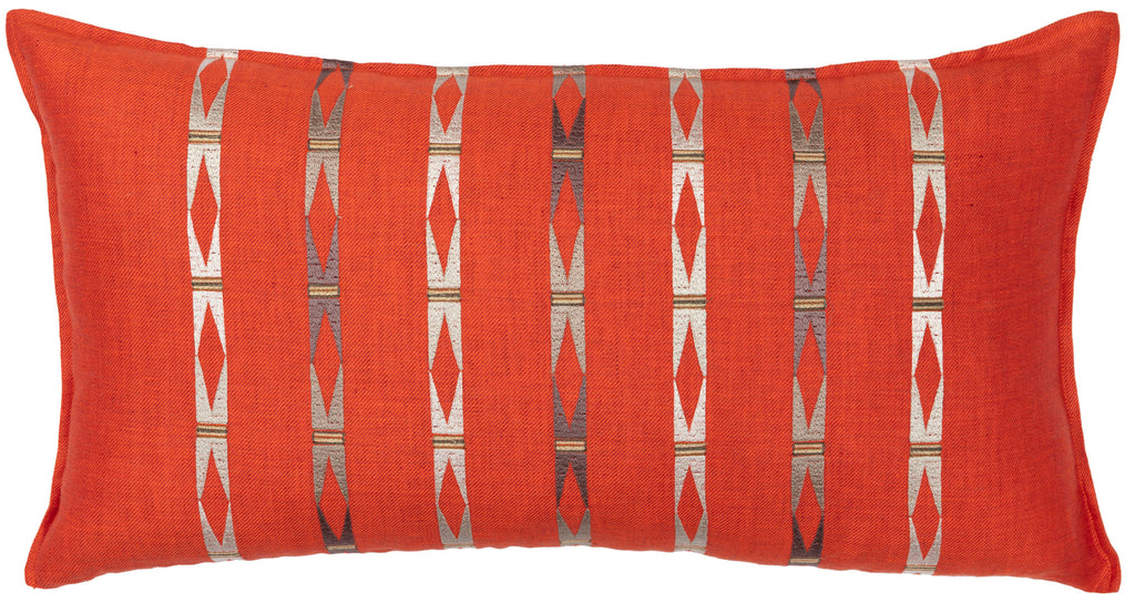 Laramie Stripe Vermilion Pillow