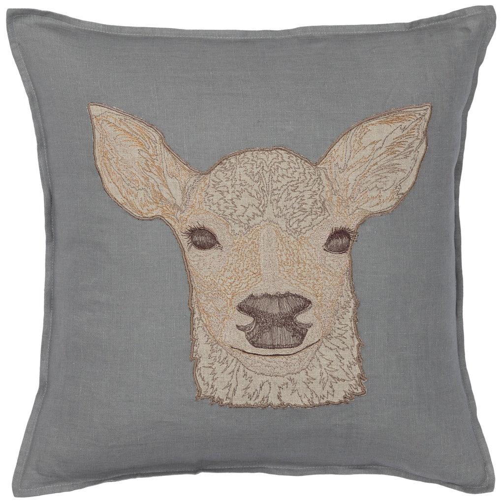 Deer Appliqué Pillow